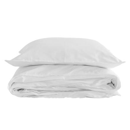 SemiBasic Sengetøj Hvid med Hvid kant 140x220 cm