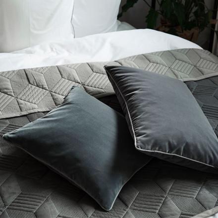 SemiBasic Velour Pude Mørkegrå 45x45cm