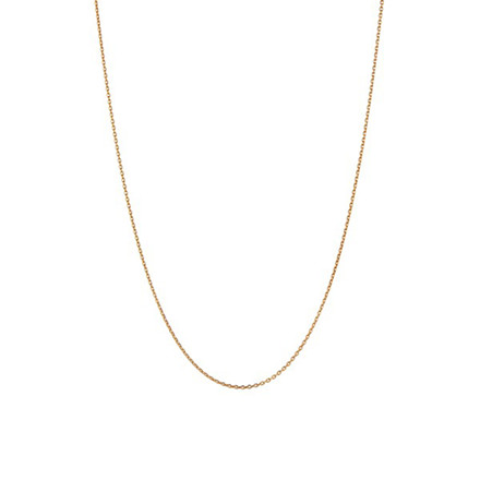 Stine A Plain Pendant Halskæde Kort Guld