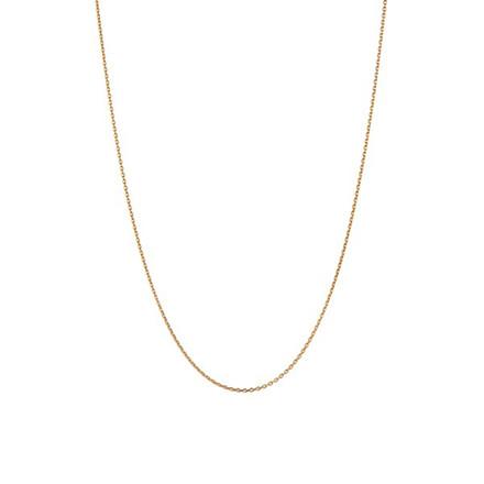 Stine A Plain Pendant Halskæde Lang Guld