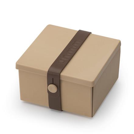 Uhmm box No. 02 Mocca med brun båndfarve