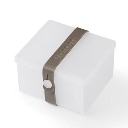 Uhmm box No. 02 Transparent med mørkgrå båndfarve