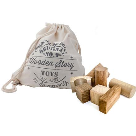 Wooden Story Byggeklodser XL - Natur 50 stk