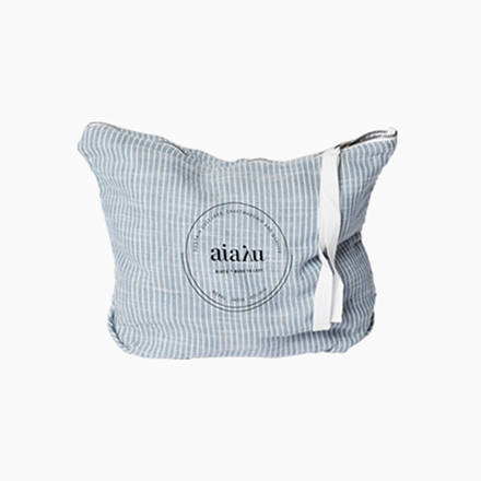 Aiayu Pouch Indigo striped