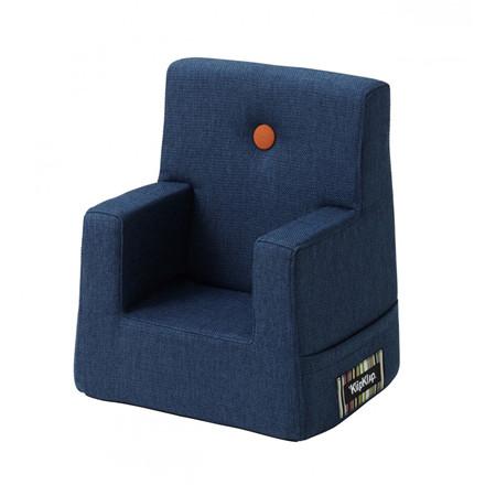 By KlipKlap Kids Chair Mørke Blå m. orange knap