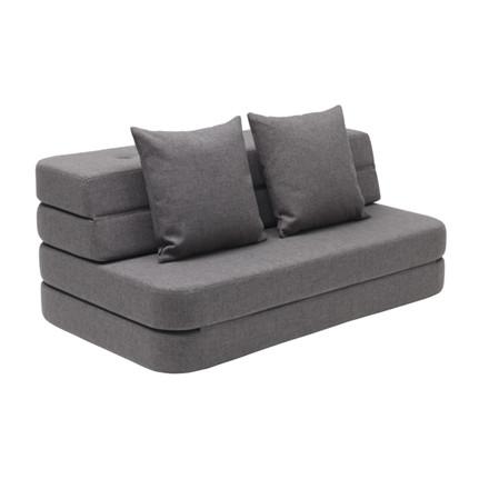 By Klip Klap KK 3 Fold Sofa Blå Grå