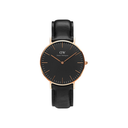 Daniel Wellington Dameur Classic Black Sheffield Rose Gold