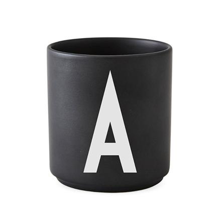 Design Letters AJ Porcelænskop Sort