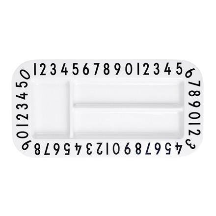 Design Letters snack tallerken rektangel
