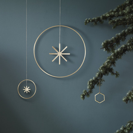 Ferm Living Ornament Winterland Messing Stjerne