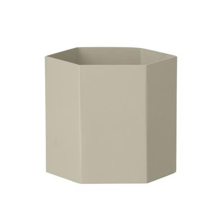 Ferm Living Hexagon Pot Grey
