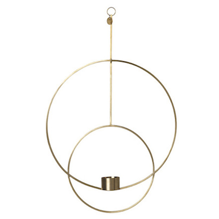 Ferm Living Hanging Tealight Deco, Rund i Messing