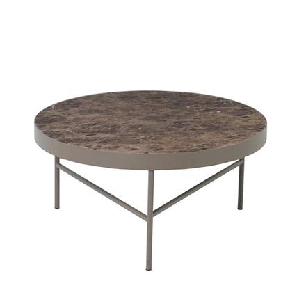 Ferm Living Sofabord, Brun Marmor, Stor