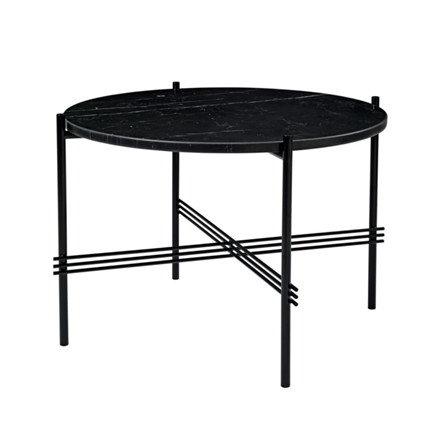 Gubi Gamfratesi TS Lounge Table Marmor Sort-Sort Mellem