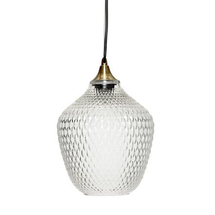 Hübsch Lampe Messing-Glas