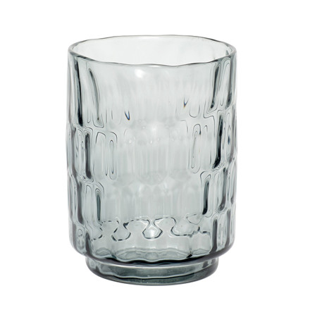 Hübsch Glas Vase Blå Lille