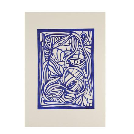 Hein Studio Plakat Wonderland blue