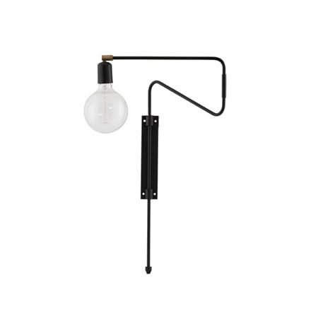 House Doctor Væglampe Swing Sort L35