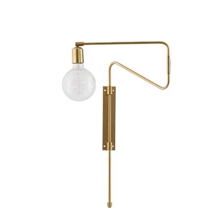 House Doctor Væglampe Swing Messing L35