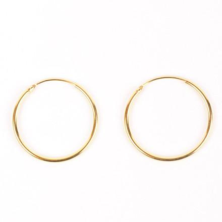Jukserei Øreringe, Hoop Earrings Guld