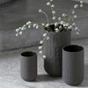 Kähler Love Song Vase Antracitgrå