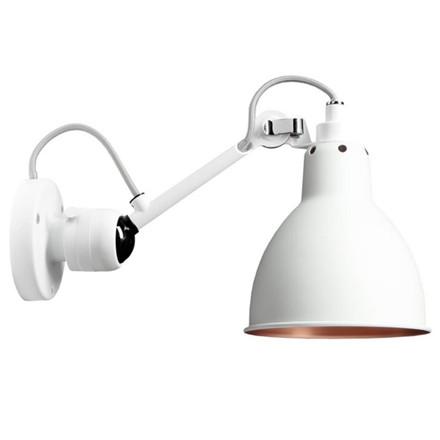 Lampe Gras Væglampe Hvid/Kobber Indvendig No 304