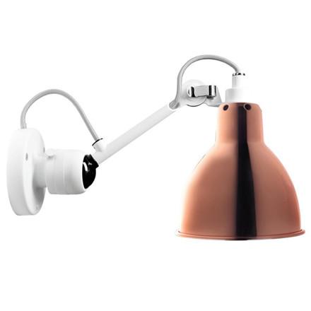Lampe Gras Væglampe Hvid-Kobber No 304