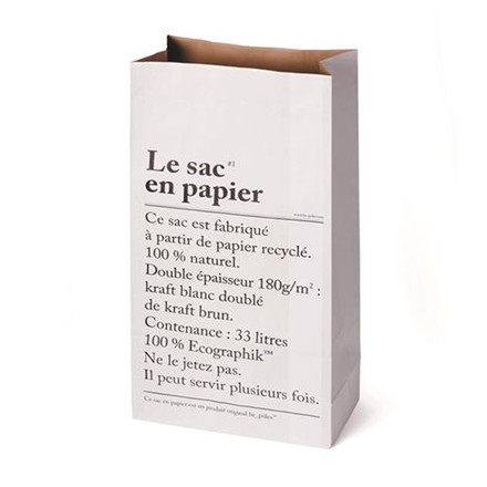 Be-Polés Le Sac En Papier Opbevaringspose Hvid