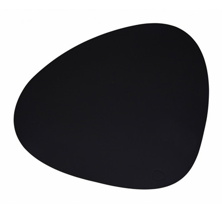 Lind DNA Tablemat Dækkeserviet Curve Black-Softbuck