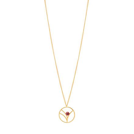 Louise Kragh Tree halskæde guld plum