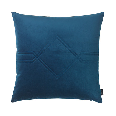 Louise Roe Diamond Velvet pude Royal Blue 60 x 60 cm