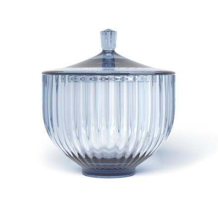 Lyngby BonBonniere Lågkrukke Glas Blå