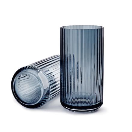 Lyngby Vase Glas Blå