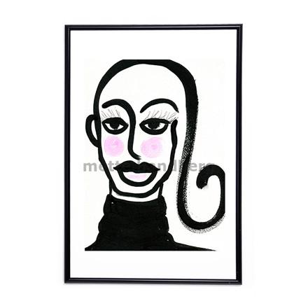 Mette Handberg Blushing Girl plakat