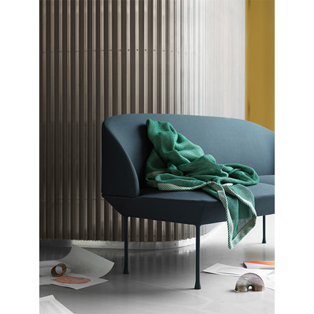 Muuto Plaid Ripple Throw Grøn
