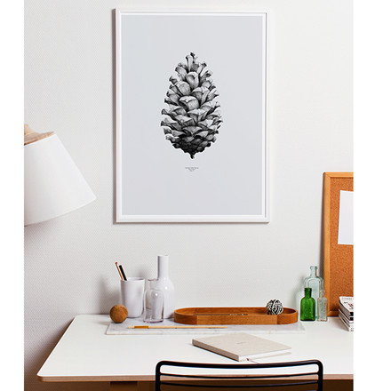Paper Collective Plakat Pine Cone Grå