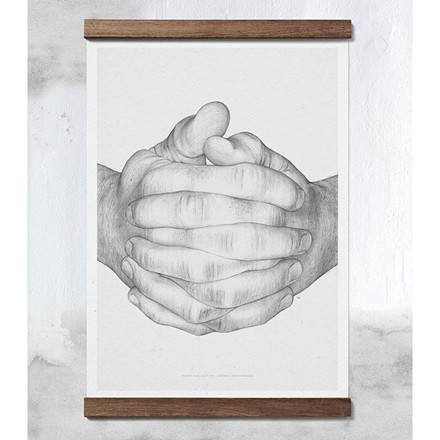 Paper Collective Plakat Folded Hands