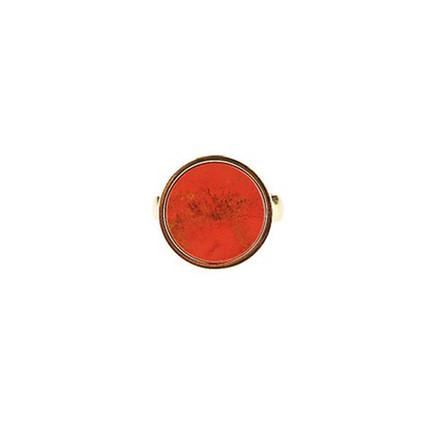 Plissé Copenhagen Ring Guld Rust Marmor