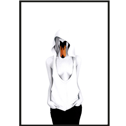 Sanna Wieslander Art Swan Lady Illustration