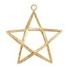 House Doctor Ornament Star Double Messing