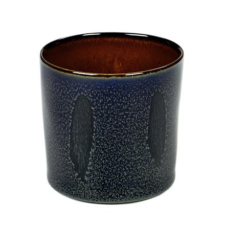 Serax Goblet Cylinder Høj Mørke Blå-Rust