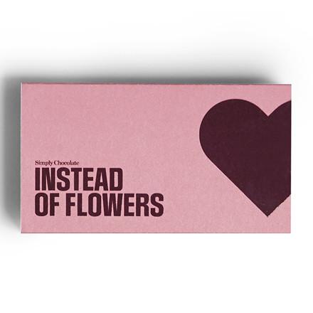 Simply Chocolate Chokolade æske, INSTEAD OF FLOWERS