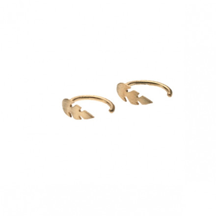 Stine A Petit Feather Earring Guld