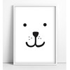 Tellkiddo Print Animal Face Bear A4