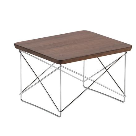 Vitra LTR Occasional Table - Massiv Valnød, Krom stel