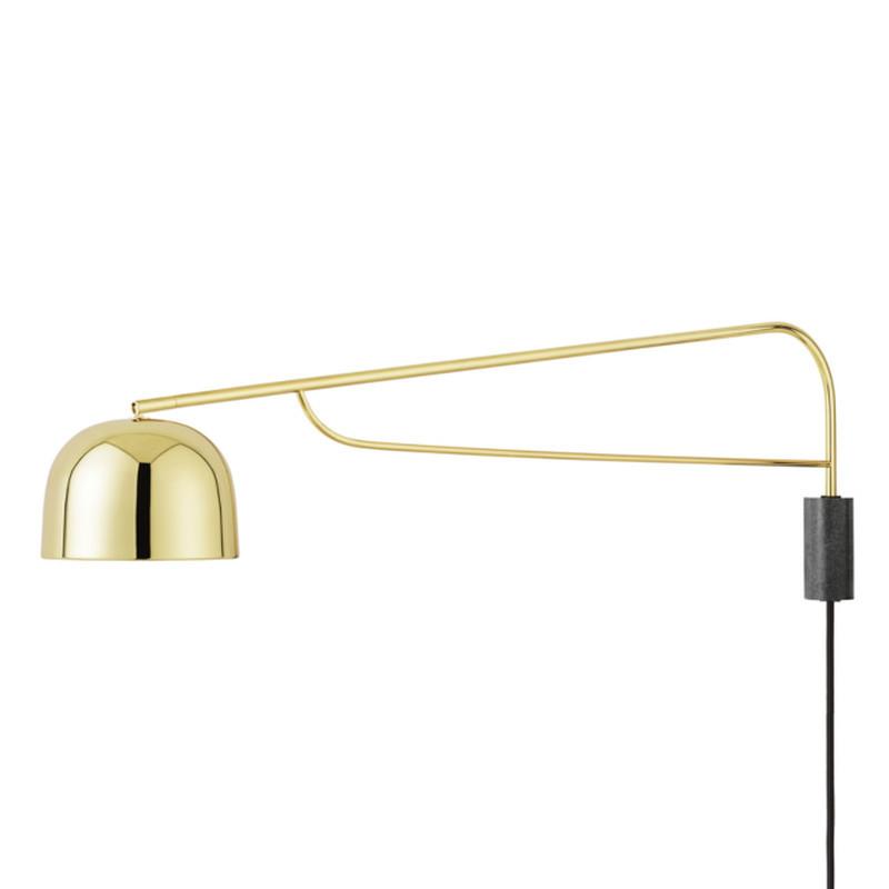 Normann Copenhagen Grant Væglampe 111 cm. Messing