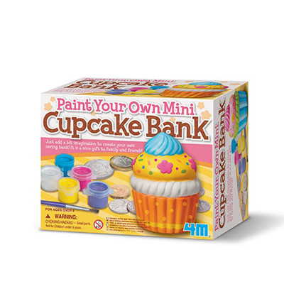4M Bank Painting-Paint Your Own Mini Cupcake Bank