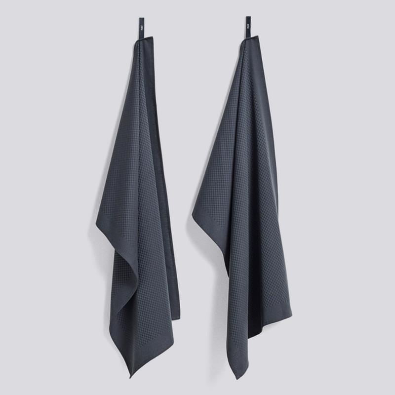 HAY Tea Towel Check Viskestykker Mørkegrøn