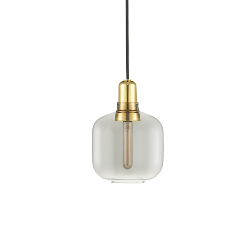 Normann Copenhagen Amp Lamp lille, Røg/messing