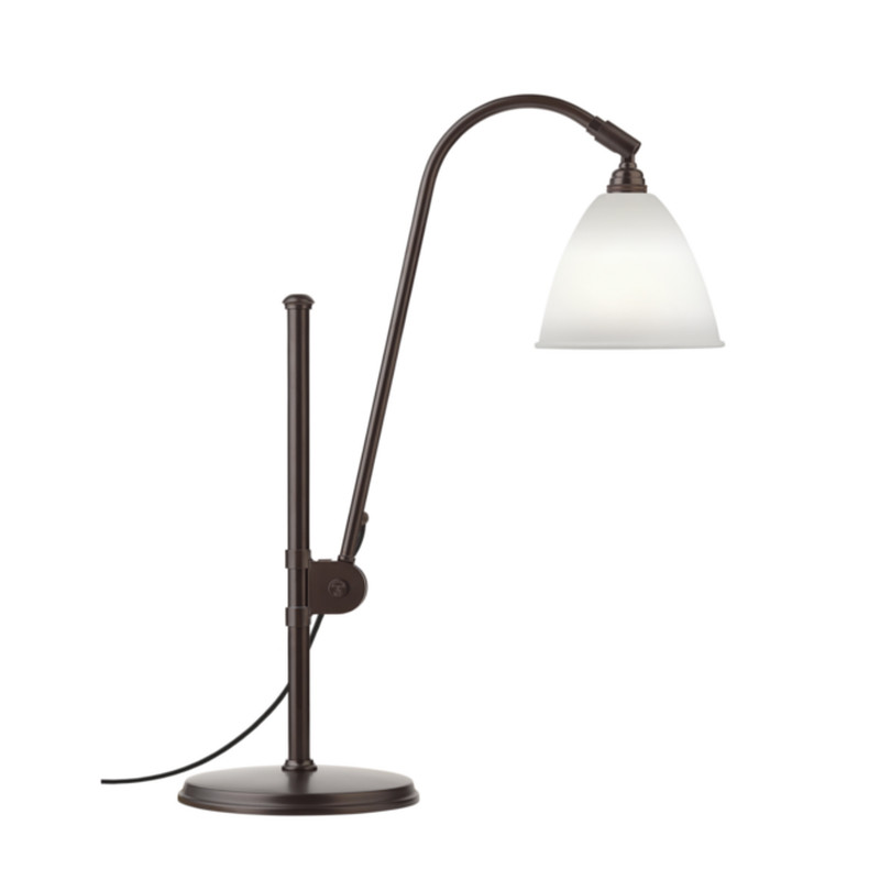 Bestlite BL1 Bordlampe Black Brass Bone China